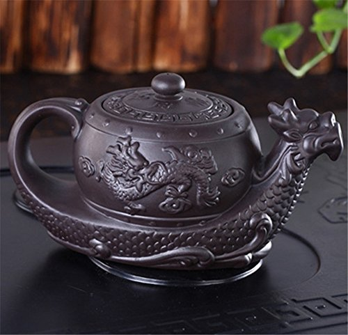 Dragon Tea Pot Chinese Yixing Purple Clay Teapot,Raditional Dragon Tea Pot Big Capacity Handmade Clay Tea Set Kettle Kung Fu Teapot ()
