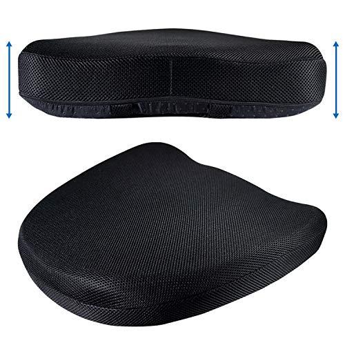 Coccyx Cushion Extra Large Tailbone Seat Support - Big Roomy Memory Foam Firm Support Pillow for Sacral & Orthopedic Lower Back Pain Relief for Car or Office Chair Ergonomic Comfort by CT