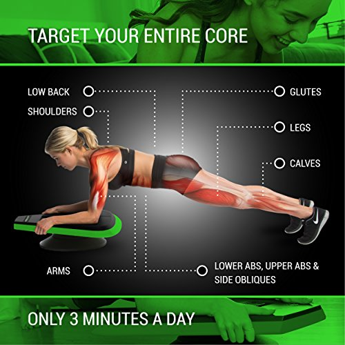 Stealth Core Trainer Professional, Dynamic Ab Plank Workout, Interactive Fitness Board Powered By GamePlay Technology For a Healthy Back and Strong Core (Glow Green) by Stealth (Image #2)