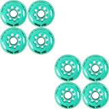 Labeda Inline Roller Hockey Skate Wheels Addiction Teal 76mm Set of 8