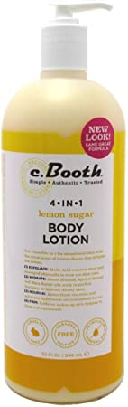 C.Booth 4-in-1 Multi-Action Body Lotion Lemon Sugar 32 Ounce 946ml 3 Pack