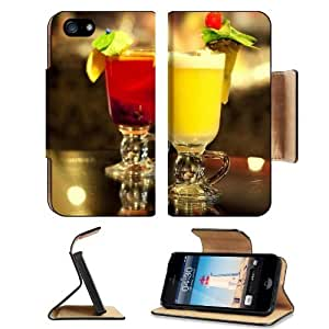 Frozen Drinks Beverage Fruit Decorations Apple iPhone 5 / 5S Flip Cover Case with Card Holder Customized Made to Order Support Ready Premium Deluxe Pu Leather 5 3/16 inch (132mm) x 2 11/16 inch (68mm) x 9/16 inch (14mm) MSD iPhone 5 Professional Cases Touch Accessories Graphic Covers Designed Model Folio Sleeve HD Template Designed Wallpaper Photo Jacket Wifi 16gb 32gb 64gb Luxury Protector Wireless Cellphone Cell Phone