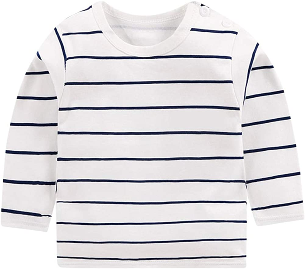 Camiseta de Manga Larga Niños Bebé Niña Chico Top básico de ...