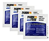 Burn Free Pain Relieving Gel Dressing 4 x 4 Sterile Burn & Wound Dressing 4 Pack/Cools, Soothes, Moisturizes, Relieves Pain, Non-Adherent