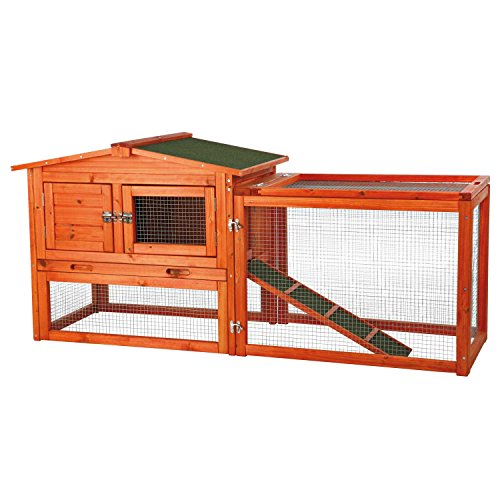(Trixie Pet Products Rabbit Hutch with Outdoor Run)