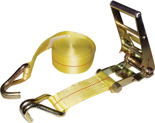 Erickson 58515 Yellow 3-Inch x 30-Inch Ratchet Strap with Double J Hooks Erickson Mfg. Ltd.