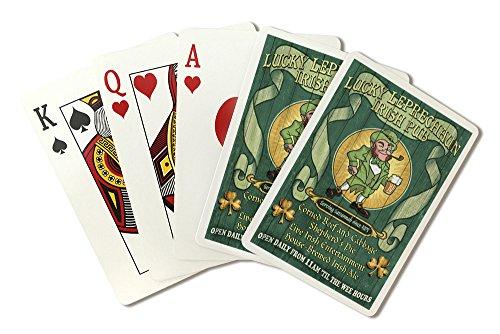 Savannah, Georgia - Leprechaun Irish Pub Vintage Sign (Playing Card Deck - 52 Card Poker Size with Jokers)