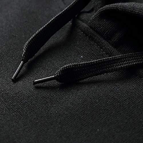 Suga Jogging Sweat Pullover Nankod Couleur Unie Streetwear Sport Noir Capuche Unisexe W1WdaPq