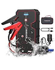 FNNMEGE 2000A Peak 21800mAh 12V Super Safe Car Jump Starter with USB Quick Charge 3.0 (Up to 8.0L Gas or 6.5L Diesel Engine) Pack Type-C Portable Phone Charger 24-Month Warranty