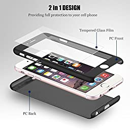 iPhone 7 case, VPR 2 in 1 Ultra Thin Full Body Protection Hard Premium Luxury Cover [Slim Fit] Shock Absorption Skid-proof PC case for Apple iPhone7 (4.7inch) (Black)