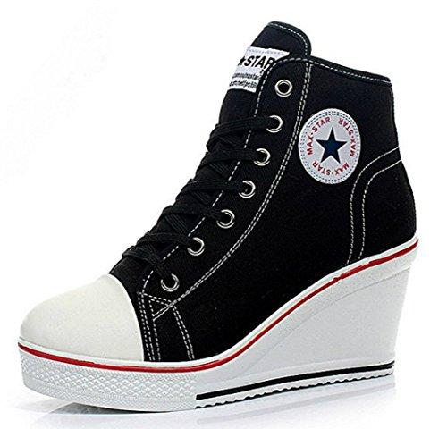 Kivors UK Donna Sneaker 8 Nero Black pxpAr1Tn