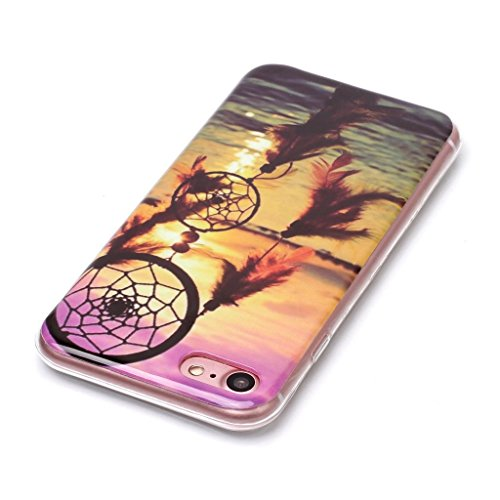 "Coque iPhone 7, IJIA Ultra-mince Dreamcatcher Mer TPU Doux Silicone Bumper Case Cover Coque Housse Etui pour Apple iPhone 7 (4.7"") + 24K Or Autocollant"