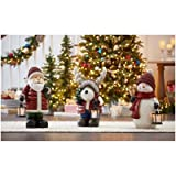 Holiday Christmas 27'' Tall Extra Large Figurine Greeter with LED Candle Lantern (Santa)