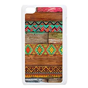 Colorful Wood Texture Hard Popular Case for Ipod Touch 4, Hot Sale Colorful Wood Texture Hard Case