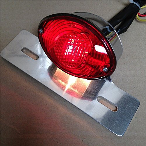 NBX- Red License Plate Brake Tail Light For Ducati Monster Universal Cruiser Street