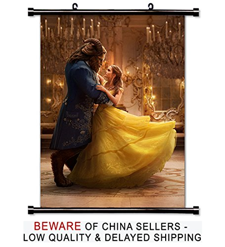 Beauty and the Beast 2017 Movie Poster Featuring Emma Watson