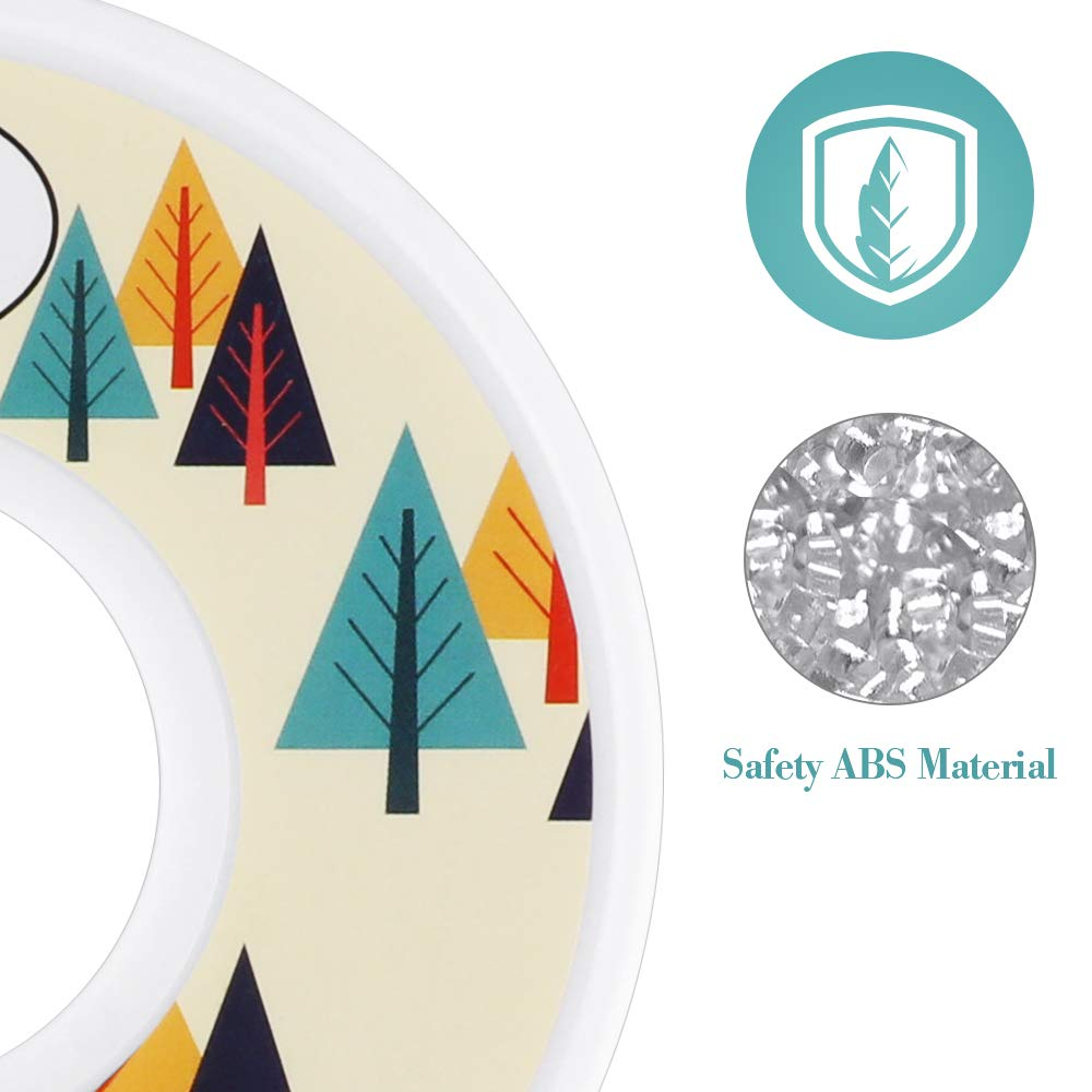 Set of 7 Baby Closet Organizer Sized Newborn to 24 Months and Set of 5 Blank Nursery Closet Divider for Editing with Colorful Trees Pattern Baby Closet Dividers 12 Pack