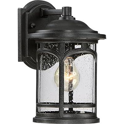 Quoizel MBH8407KFL One Light Wall Marblehead Outdoor Lantern in Mystic Black