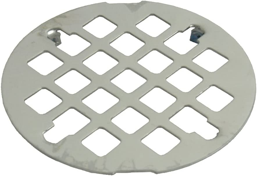 DANCO Easy-to-Install, Snap-In-Style Shower Drain, Polished Stainless Steel, 3-1/4-Inch, 1-Set (89201)