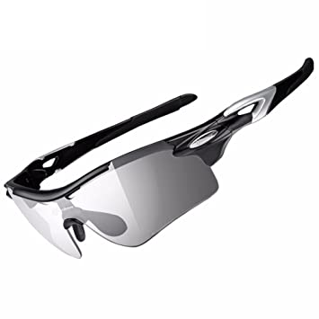 af1459226a ROCKBROS Polarized Photochromic Cycling Glasses Outdoor Sports Bicycle  Sunglasses Goggles Eyewear Myopia Frame Black  Amazon.ca  Sports   Outdoors