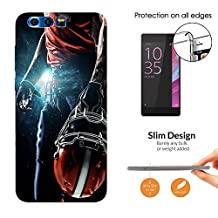 002671 - Awesome American Football Player Helmet Sports Design HUAWEI Nova 2 Fashion Trend CASE Ultra Slim Light Plastic 0.3MM All Edges Protection Case Cover-Clear