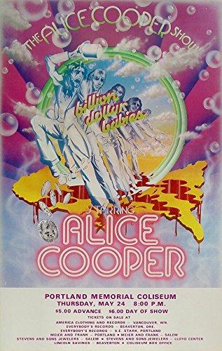Amazon com: Alice Cooper in Portland Rock Band Art Concert Poster