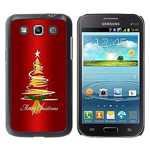 TECHCASE**Cubierta de la caja de protección la piel dura para el ** Samsung Galaxy Win I8550 I8552 Grand Quattro ** Christmas Tree Star Art Drawing Lights Merry
