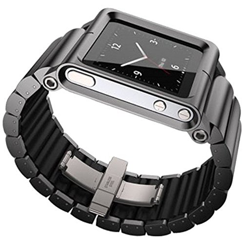 MOSTOP® Aviation Aluminum Material Watch Band Wrist Strap for iPod nano 6 (6th Generation) - Black