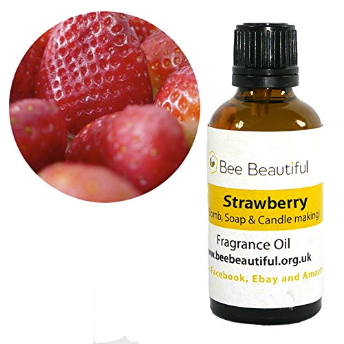 Bee Beautiful Strawberry Cosmetic Fragrance Oils suitable for Soap and Bath Bomb Making (10ml) (10ml)