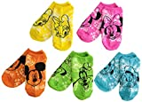 Disney Boys' Mickey Mouse 5 Pack No Show Socks