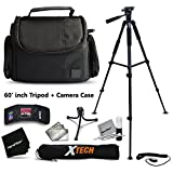 """Premium Well Padded Camera CASE / BAG and Full Size 75"""" inch TRIPOD Accessories KIT SONY ALPHA a7 a7S a7R a7II a7Rii, a7IIK, Alpha 7 II, Alpha, 7, 7S, 7R, Alpha 7, Alpha a5100, a6000, a5000, a3000, NEX3, NEX3N, NEX5N, NEX5R, NEX5T, NEX6, NEX7, NEXF SLTA77 II, SLTA99, SLTA58, SLTA57, SLTA37, SLTA77, SLTA35, SLTA65, SLTA55, SLTA33 DSLR Cameras"""