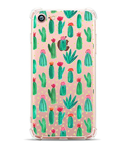 iPhone 7 Case iPhone 8 Case Hepix Tropical Cactus Soft Flexible TPU Protective Bumper Back Cover Case for iPhone 7 and iPhone 8 [4.7 inch]