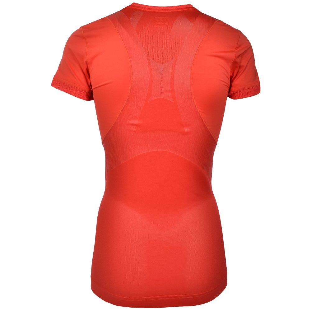 40720a29e732de Amazon.com: Reebok EasyTone PlayDry Womens Short Sleeve Fitted Gym Tee  Shirt - Purple - XS: Clothing