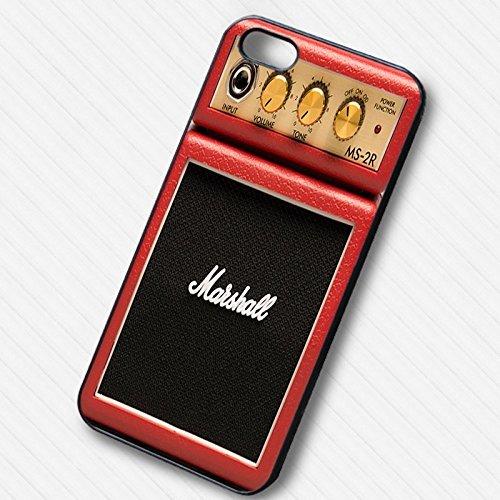 Marshall Micro Amplifier in Red pour Coque Iphone 6 et Coque Iphone 6s Case (Noir Boîtier en plastique dur) N8C2WN