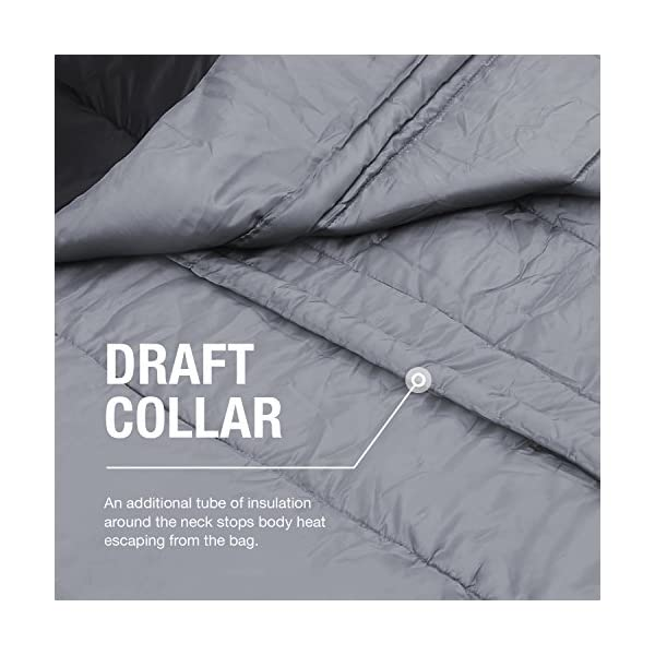 Active Era Double Sleeping Bag - Water Resistant and Lightweight Queen Size with 2 Pillows & Compression Bag, Converts into 2 Singles - 3 Seasons 32F, Perfect for Camping, Hiking, Outdoors & Travel 9