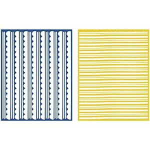 QUICKUTZ Lifestyle Crafts Trim 2-Pack Embossing Folder for Scrapbooking