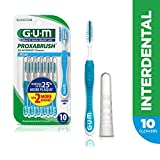 GUM Proxabrush Go-Betweens Interdental Brushes, Wide, 10 Count