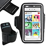 DURAGADGET Unisex Sports Armband in Black - Running, Cycling & Gym Smartphone Case for BLU Studio Energy, BLU Studio X, BLU Studio X Plus, BLU Studio G, BLU Life One (2015) & Studio C Mini