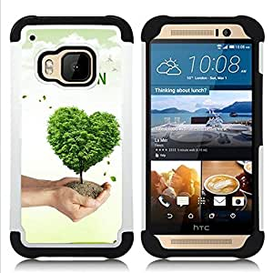 - Love Nature Tree Heart/ H??brido 3in1 Deluxe Impreso duro Soft Alto Impacto caja de la armadura Defender - SHIMIN CAO - For HTC ONE M9
