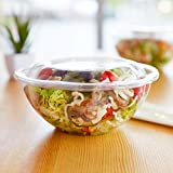 50-Pack 18oz Plastic Disposable Salad Bowls with Lids - Eco-Friendly Clear Food Containers - Extra-Thick Materials - Portable Serving Bowl Set to Pack Lunch - Super Strong Seal To Preserve Freshness