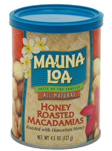 Mauna Loa Macadamias, Honey Roasted, 4.5 Ounce (Pack of 2)