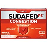 Sudafed Pe Congestion Tablets, 18 Count