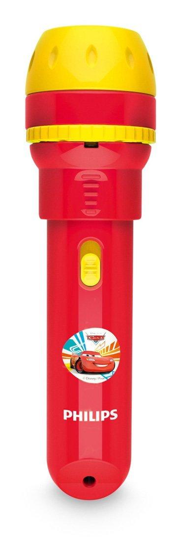 Philips Disney Cars - Proyector y linterna 2 en 1, bombilla LED incluida, color rojo 717883216 iluminación infantil interior