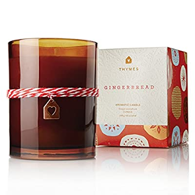 Thymes – Fragrant Gingerbread Wax Candle with 60-Hour Burn Time – 9.5 Ounces - GINGERBREAD FRAGRANCE – Gingerbread candles will be your new delectable holiday tradition, with a mix of spicy cardamom, crystallized ginger, golden amber, and fresh-ground cinnamon. HIGH-QUALITY WAX – Thymes uses top quality food-grade paraffin wax and non-metal wicks to ensure a higher quality color, scent, and a burn lasting up to 60 hours. SET THE MOOD FOR MEMORIES – Warm and spicy notes sets the mood for those special moments that make up our life stories, creating a tradition to savor and to share. - living-room-decor, living-room, candles - 51PtxADoQJL. SS400  -