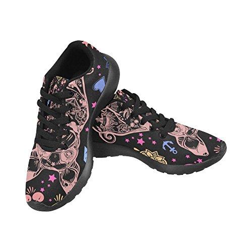 Interestprint Zombie Sports Chaussures De Course Pour Les Hommes Chien Sans Soudure