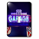Usa, Oklahoma, clinton, route 66 museum, neon garage sign light switch cover is made of durable scratch resistant metal that will not fade, chip or peel. Featuring a high gloss finish, along with matching screws makes this cover the perfect finishing...