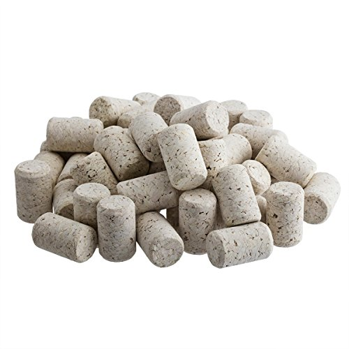Omi 100 Pack Agglomerated Natural Wine Bottle Corks & Black Capsules - #9 Portugal Made 100 Wine Bottle Shrink Capsules Homemade Craft by Omi Home (Image #2)