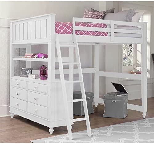 Rosebery Kids Summerland Full Wood Loft Bunk Bed
