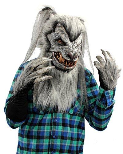 Zagone Studios Silver Deluxe Wolf (Werewolf) Costume Kit (Adult Silver Werewolf Costume)