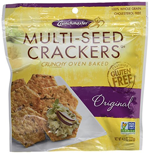 Crunchmaster Crackers Multi-Seed Orginal  - 2 / 4.5 Oz Bags Gluten Free
